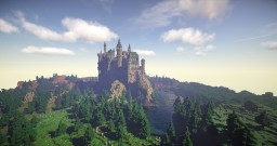 Castle on the mountain [Aurelien_Sama Défi build] Minecraft