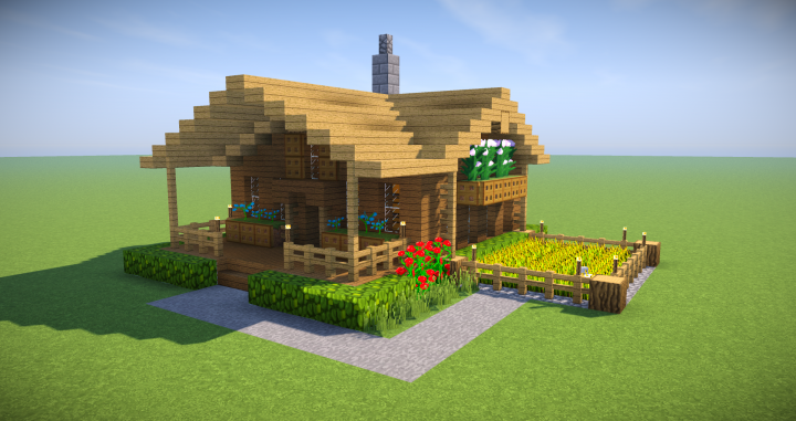 Minecraft Starter House Tutorial EASY How To Build A House IN - Minecraft hauser easy