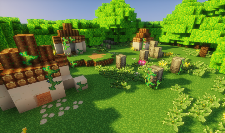 The abandoned sprite village, samples of plants and flowers