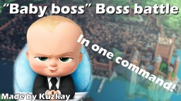 """""""Baby Boss"""" Boss Battle In One Command!!! Minecraft Map & Project"""