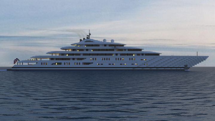 Megayacht Collateral Full Interior Minecraft Project