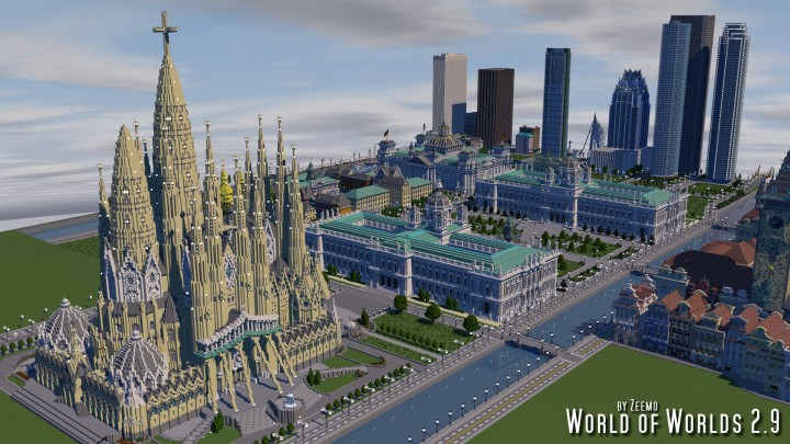 Sagrada Familia Barcelona Spain Minecraft Project