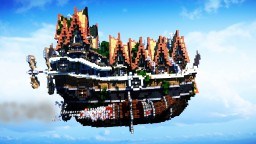 The Flying Village - Steampunk Airship v2 Minecraft Map & Project