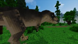 Jurassic Park T-Rex Enclosure Minecraft Map & Project
