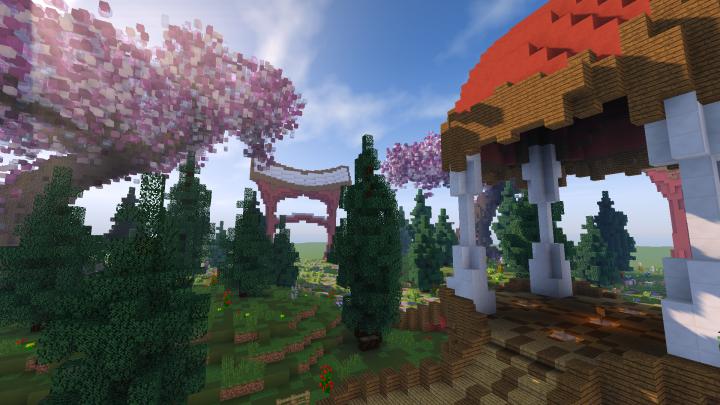 Japanese Garden Spawn Minecraft Map