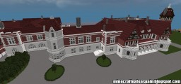 Replica Minecraft of the Palace of Miramar, San Sebastian, Basque Country, Spain. Minecraft Map & Project