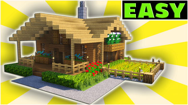 Minecraft Starter House Tutorial - [EASY] How to build a ...