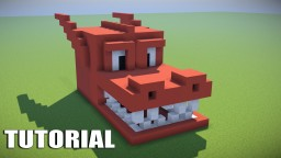 Minecraft Tutorial: How To Make A ENDER DRAGON Survival House (RED DRAGON) Minecraft Project