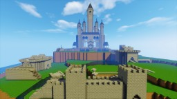 Breath of the wild inspired Hyrule castle Minecraft Map & Project