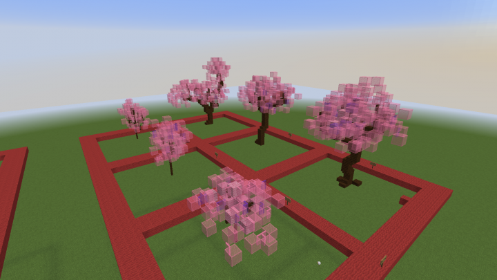cherry sakura trees - Minecraft Japanese Tree