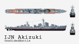 IJN Akizuki Minecraft Project