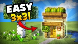 MINECRAFT: HOW TO MAKE THE SMALLEST HOUSE YOU CAN MAKE IN SURVIVAL!