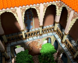 Spanish Patio Minecraft Map & Project