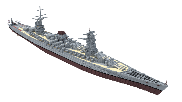 At 409 meters long overall, the Izumi-class were some of the largest warships ever to see service, being the last conventional battleships designed and built for the Imperial Japanese Navy during the late 1950s.