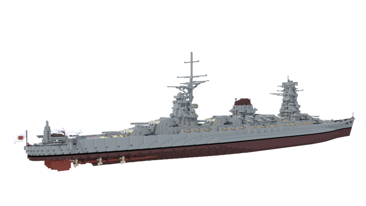 Interesting ships in terms of their design history, members of the Izumi-class would eventually see service in three configurations - battleship, battleship-carrier hybrid, and pure aircraft-carrier.