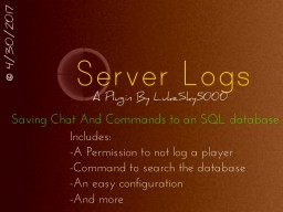 Server Logs [1.9.x-1.13] Minecraft Mod
