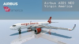 Airbus A321 NEO -  Virgin America [+Download] Minecraft Project