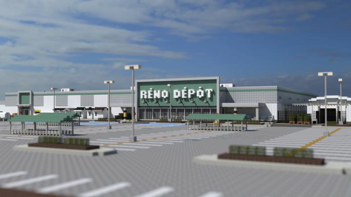 Réno-Dépôt Candiac | Renovation Store | OR Minecraft Project