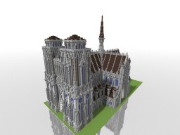 Gothic Cathedral [ Exterior + Interior ] Minecraft Project