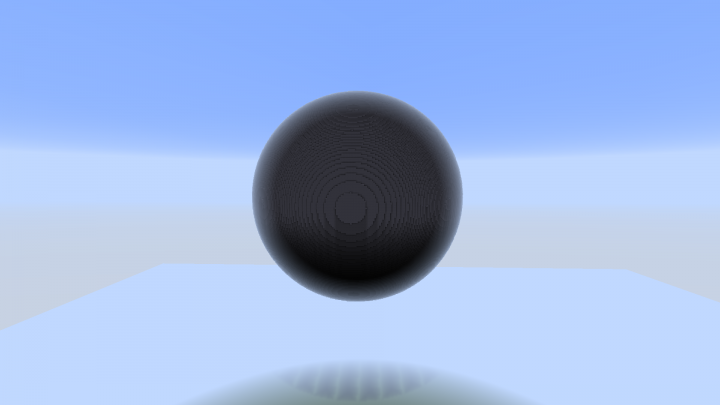 Ok so creating a sphere isnt hard when using world edit. So this was a hollow sphere made form stone and a radius of 100