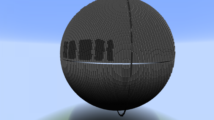 I placed the the angled hollow circle around it which gave me a good guideline for making the sections of the death star towards the top