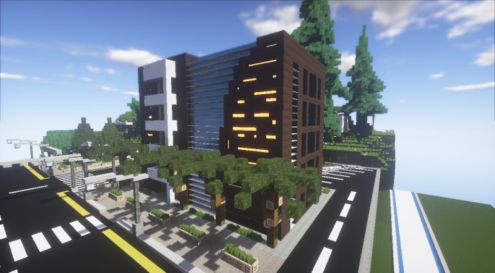 Modern Small Hotel 4 Floors Minecraft Project