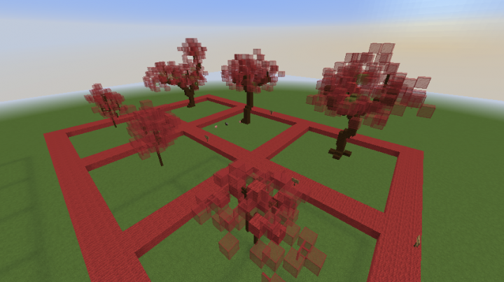 japanese red maple trees - Minecraft Japanese Tree