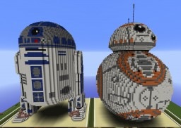 I built R2D2 and BB8 Minecraft Map & Project