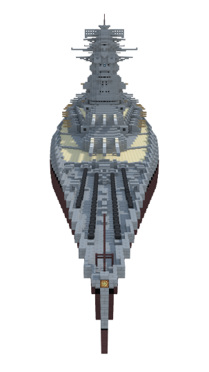 The immense 49 metre beam of the ships makes them extremely stable gun platforms and also contributes heavily to their formidable underwater defences.