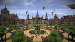 A town under construction Minecraft Project
