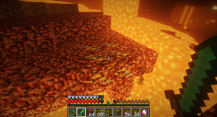 Spectrite Ore as found in The Nether