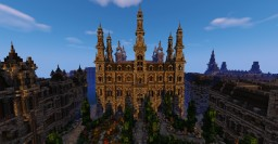 [Velorae] Versau's Verwaltungspalast - Parliament Building Inspired by the Viennese Rathaus Minecraft