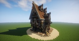 Let's Build An EPIC Medieval Mansion Minecraft Map & Project