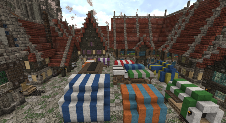 Marketplace close to the Cathedral. With blacksmith and inn close by