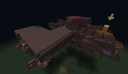 the floating minecraft redstone house by Mrchickenribs