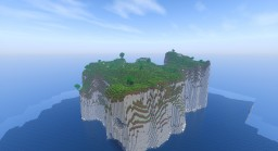Large plug and play cliff island Minecraft Map & Project