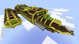 Steampunk Airship/Spaceship Minecraft Map & Project