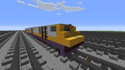 VIA Rail Canada Bombardier LRC Locomotive and Coach Minecraft Map & Project