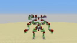 Walking Slime Block Mech WITH STORAGE Minecraft Project