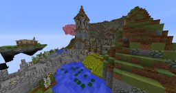 Floating island: Medieval fallen Temple Minecraft Map & Project