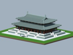 four Chinese buildings of Tang style