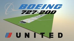 United Airlines Boeing 727-200 Minecraft Project
