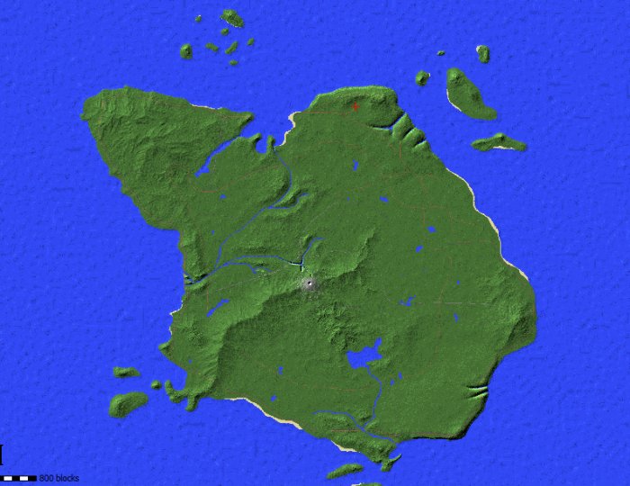 A full overview of the island.