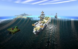 Mini (1:5) Graf Zeppelin-Class Aircraft Carrier Minecraft Map & Project