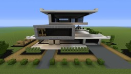 Asian Inspired Modern House Minecraft Map & Project