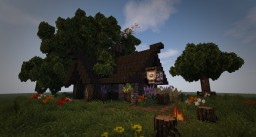 Medieval House - Enchanters Dwelling Minecraft Map & Project