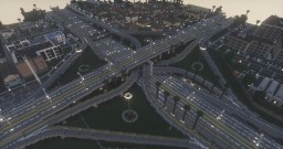 Highway Stack Interchange - Greenfield Minecraft Project
