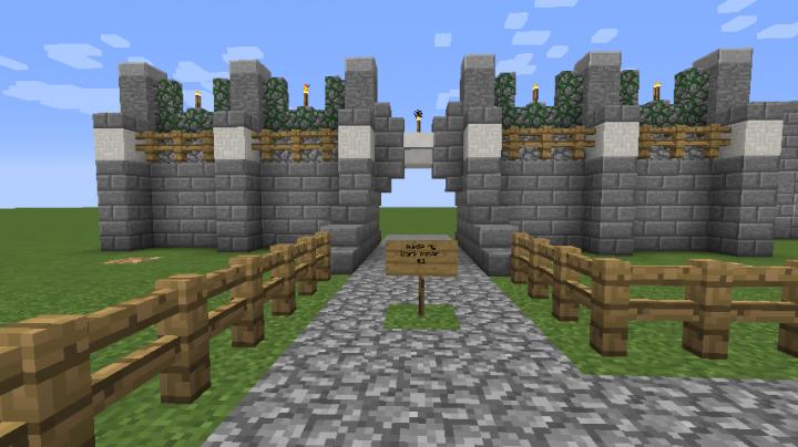 minecraft gate design. Wonderful Design Castle Gate Design On Minecraft Gate Design