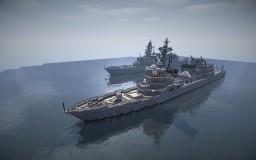 JS Akizuki class destroyer Minecraft Map & Project