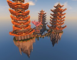 """Team Skywars map """"Oriental"""" (Made in 1.7) Minecraft Map & Project"""